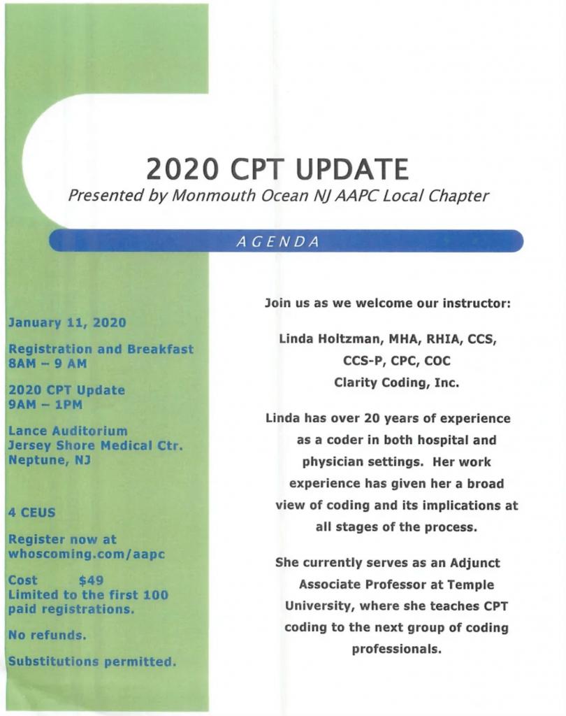 2020 cpt update